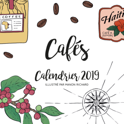 Calendar coffee papeterie