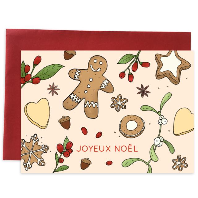 Card gingerbread noel 1