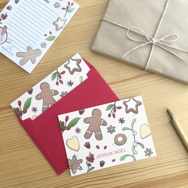 Card gingerbread noel 3
