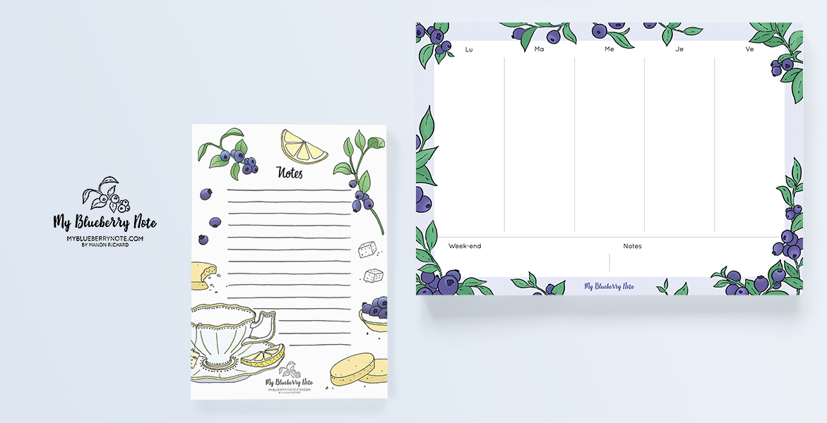 blueberry notebook weekly planner 2