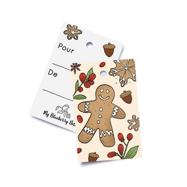 gift tag gingerbread