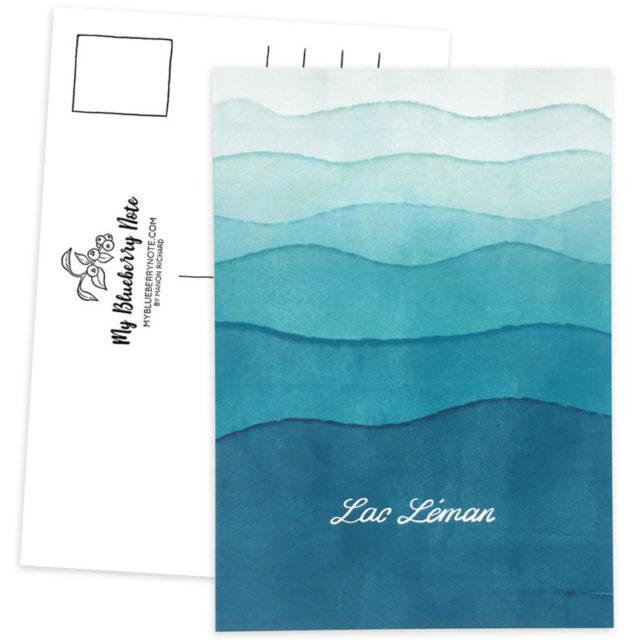 Postcard Lac Léman, Geneva Lake 2