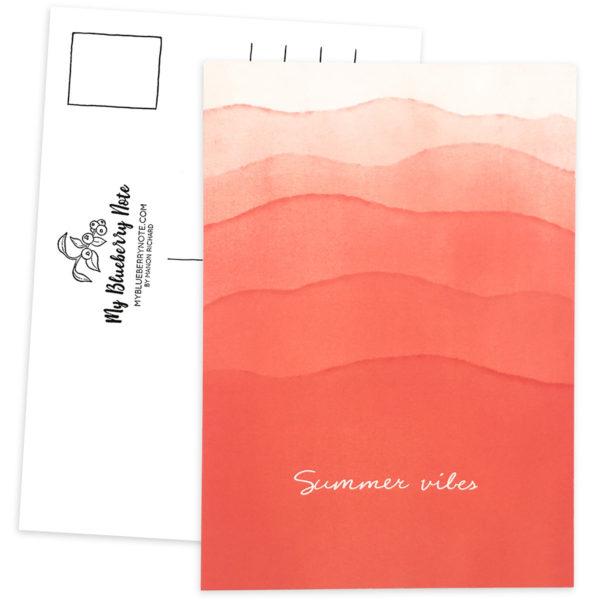 Postcard Summer vibes waves 1