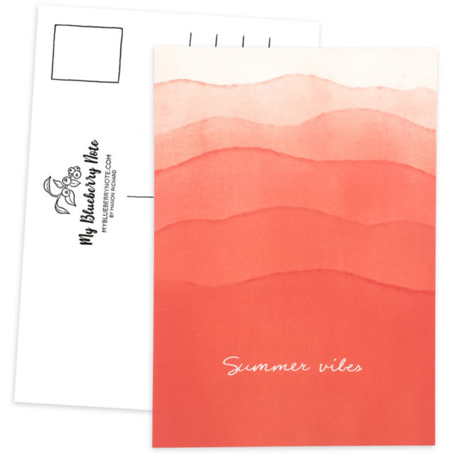 Postcard Summer vibes waves 1