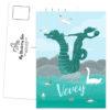 Postcard Vevey hippocampe travel