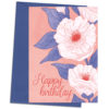 Greetings card Happy birthday flowers