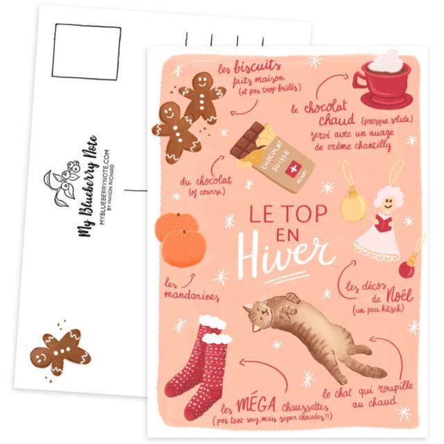 Carte postale hiver