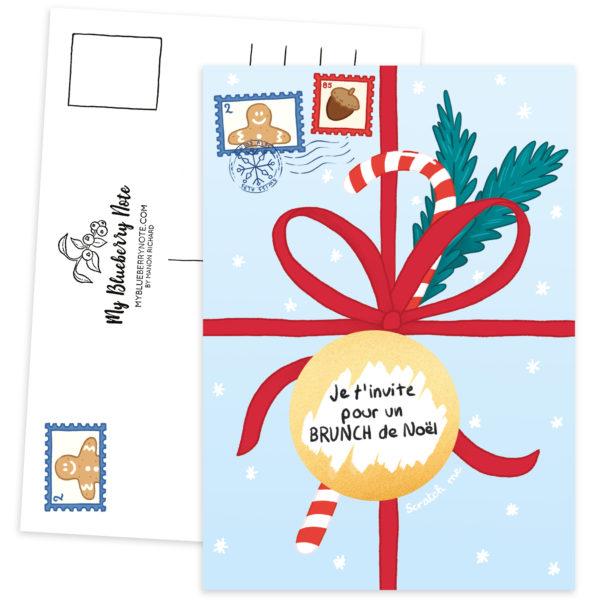 Postcard Christmas gift