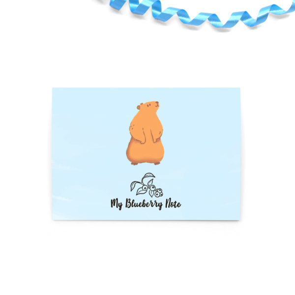 Greetings cards marmotte joyeux anniversaire 2 square