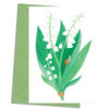 Greetings card Lily of the Valley - Muguet