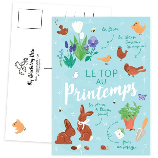 Carte postale printemps