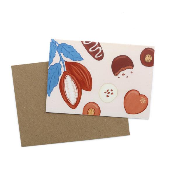Greetings cards mini chocolate 1