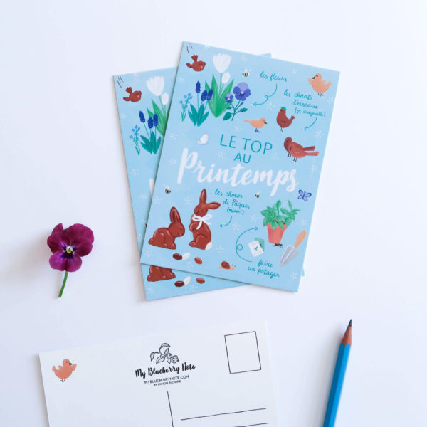 Carte postale printemps 2